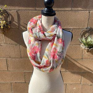 New! Floral Infinity Scarf Target
